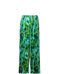 Pantalon large à fleurs vert Richard Quinn