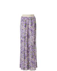 Pantalon large à fleurs violet clair Twin-Set