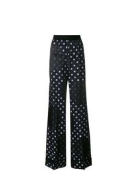 Pantalon large á pois bleu marine Maison Margiela