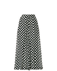 Pantalon large á pois noir et blanc