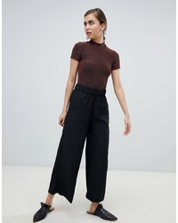 Pantalon large á pois noir Monki