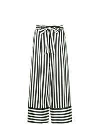 Pantalon large à rayures verticales blanc et noir Nobody Denim