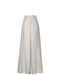 Pantalon large à rayures verticales blanc Zimmermann