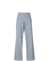 Pantalon large à rayures verticales bleu clair A.P.C.