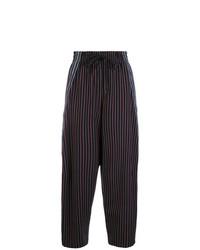 Pantalon large à rayures verticales bleu marine See by Chloe