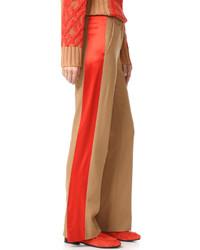 Pantalon large à rayures verticales marron clair Rag & Bone