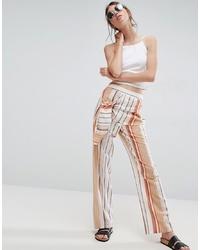 Pantalon large à rayures verticales multicolore ASOS DESIGN