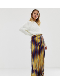 Pantalon large à rayures verticales multicolore Reclaimed Vintage