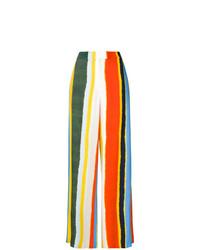 Pantalon large à rayures verticales multicolore Tory Burch