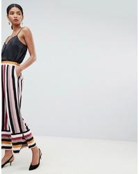 Pantalon large à rayures verticales multicolore Y.a.s