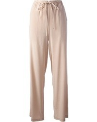Pantalon large beige