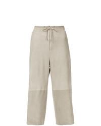 Pantalon large beige Salvatore Ferragamo Vintage