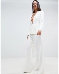 Pantalon large blanc ASOS DESIGN