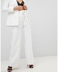 Pantalon large blanc ASOS DESIGN