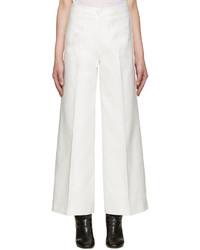 Pantalon large blanc Isabel Marant