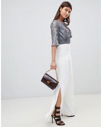 Pantalon large blanc PrettyLittleThing