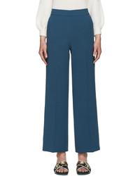 Pantalon large bleu canard