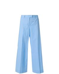 Pantalon large bleu clair Moschino Vintage