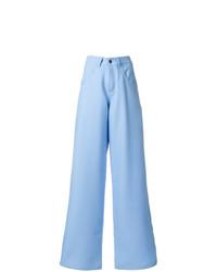 Pantalon large bleu clair Societe Anonyme