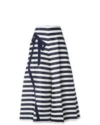 Pantalon large bleu marine et blanc DELPOZO