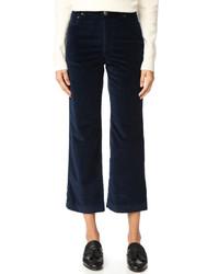 Pantalon large bleu marine A.P.C.