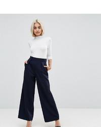 Pantalon large bleu marine Asos Petite