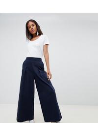 Pantalon large bleu marine ASOS WHITE