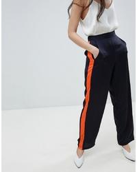 Pantalon large bleu marine Vila