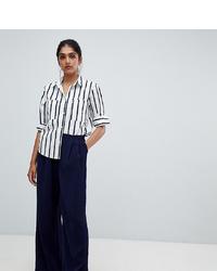 Pantalon large bleu marine Y.A.S Tall