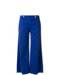 Pantalon large bleu Love Moschino