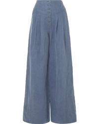 Pantalon large bleu Ulla Johnson