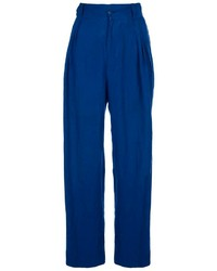 Pantalon large bleu Versace