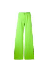 Pantalon large chartreuse