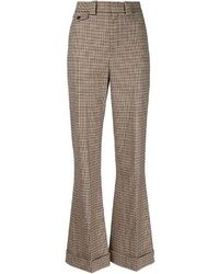 Pantalon large écossais marron Chloé