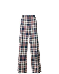 Pantalon large écossais multicolore Tory Burch