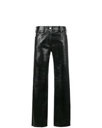 Pantalon large en cuir noir Calvin Klein 205W39nyc