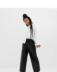Pantalon large en cuir noir Collusion