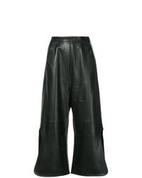 Pantalon large en cuir noir Ellery