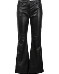 Pantalon large en cuir noir Natasha Zinko