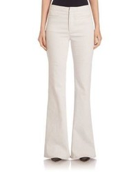 Pantalon large en denim blanc