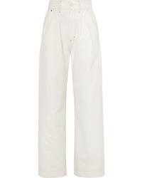 Pantalon large en denim blanc Goldsign