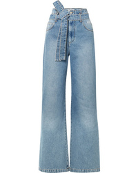 Pantalon large en denim bleu clair MSGM