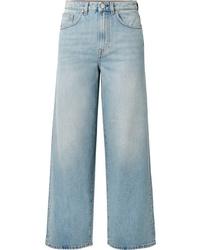 Pantalon large en denim bleu clair Totême