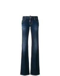 Pantalon large en denim bleu marine Dsquared2