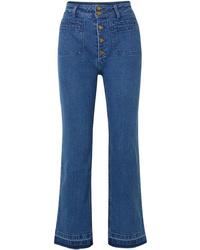 Pantalon large en denim bleu Apiece Apart