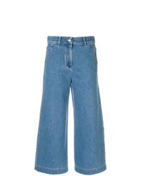 Pantalon large en denim bleu Christian Wijnants