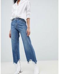 Pantalon large en denim bleu DL1961
