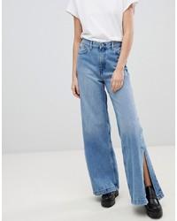 Pantalon large en denim bleu Dr. Denim