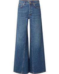 Pantalon large en denim bleu Ganni