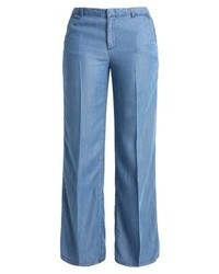 Pantalon large en denim bleu Gap